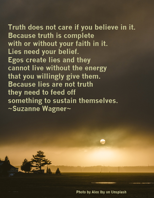 Suzanne Wagner Quote - The Difference Between Truth and ...
