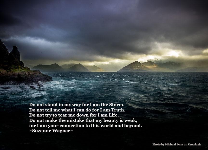 ocean storm dark and lightquote