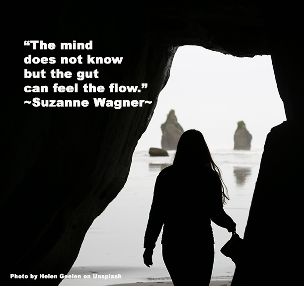 woman coming out of the tidal cavequote